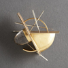 Modernist gold pin